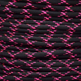 Paracord Typ 3 black / neon pink x