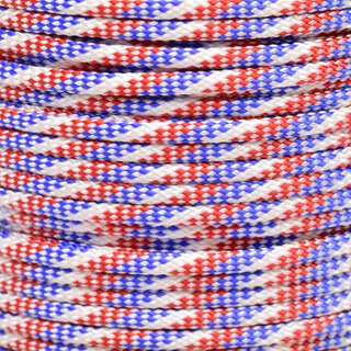 Paracord Typ 3 red, white & blue