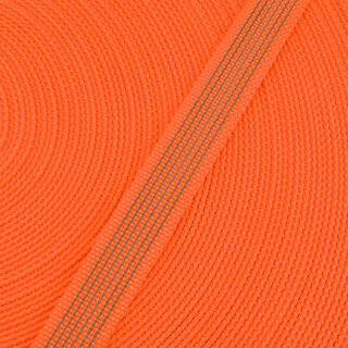 Antirutsch Gurtband orange 20 mm
