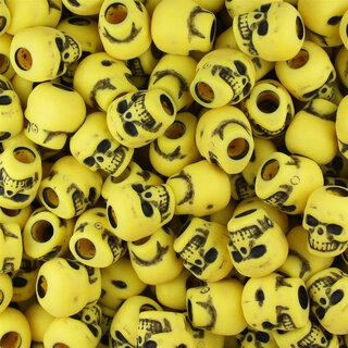 10er Set - Zombie Skulls yellow