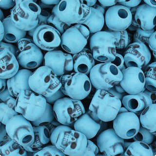 10er Set - Zombie Skulls light blue