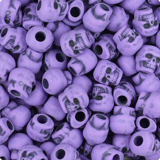 10er Set - Zombie Skulls purple