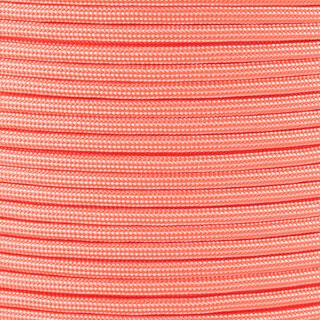 Paracord Typ 3 white / neon orange stripe