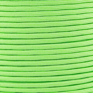 Paracord Typ 3 white / neon green stripe