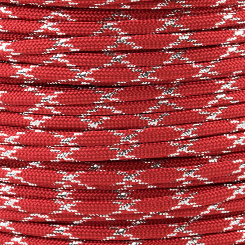 Paracord Typ 3 imperial red / silver metal x