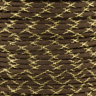 Paracord Typ 3 walnut / gold metal x