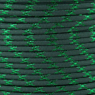 Paracord Typ 3 dark green green metal x