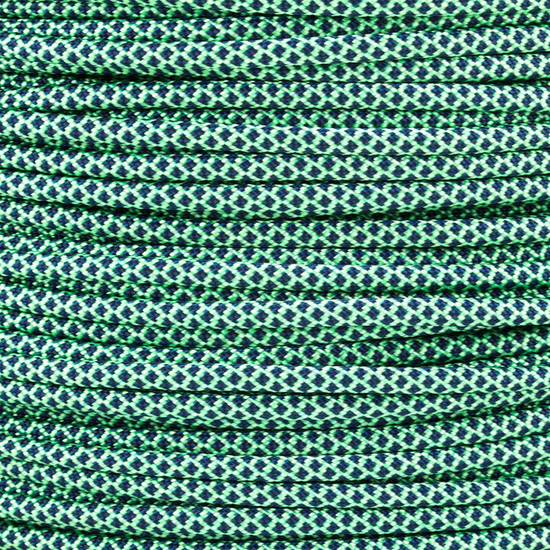 Paracord Typ 3 mint midnight blue diamonds