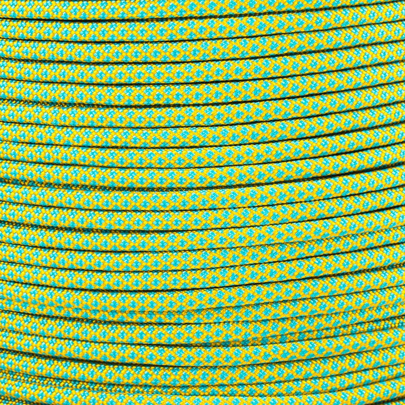 Paracord Typ 3 goldenrod neon turquoise diamonds