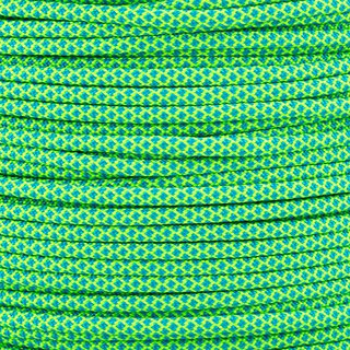 Paracord Typ 3 neon green caribbean blue diamonds