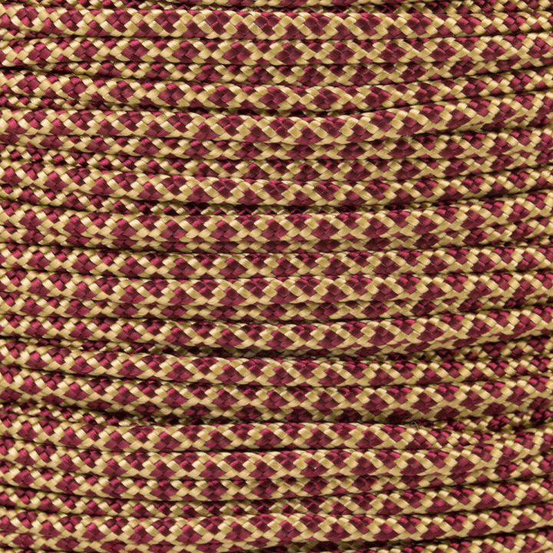 Paracord Typ 2 gold burgundy diamonds