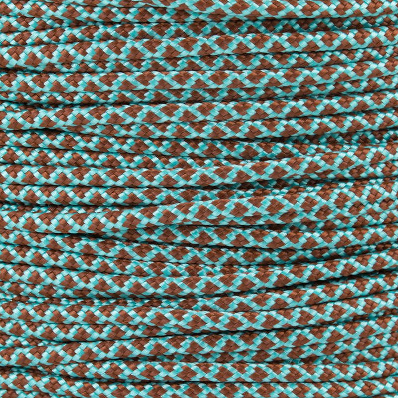 Paracord Typ 2 turquoise chocolate brown diamonds