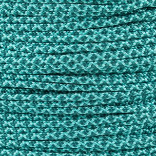 Paracord Typ 2 turquoise teal diamonds