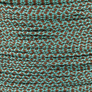 Paracord Typ 1 turquoise chocolate brown diamonds