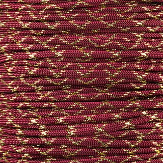 Paracord Typ 3 burgundy / gold metal x