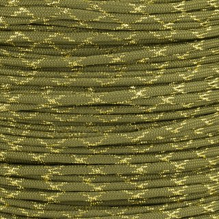 Paracord Typ 3 moss gold metal x