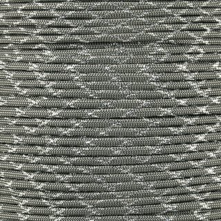 Paracord Typ 3 charcoal grey silver metal x