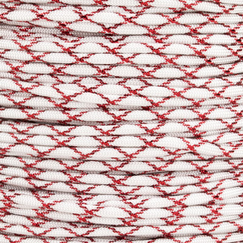 Paracord Typ 3 white / red metal x