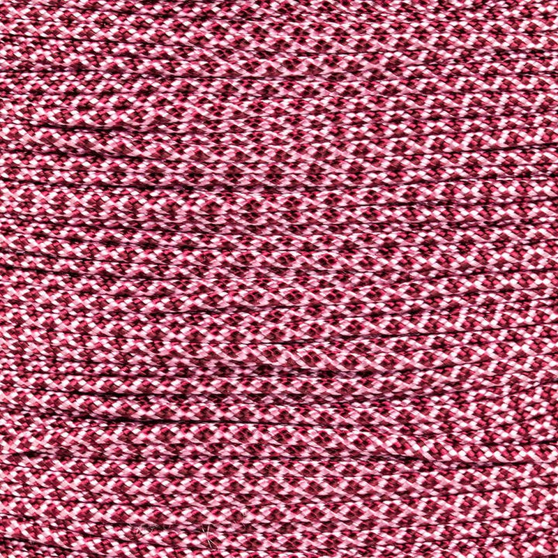 Paracord Typ 1 rose pink burgundy diamonds