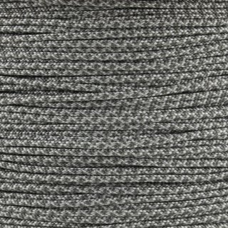 Paracord Typ 1 silver grey charcoal grey diamonds
