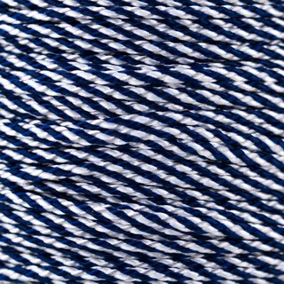 MicroCord 1.18mm midnight blue white cc
