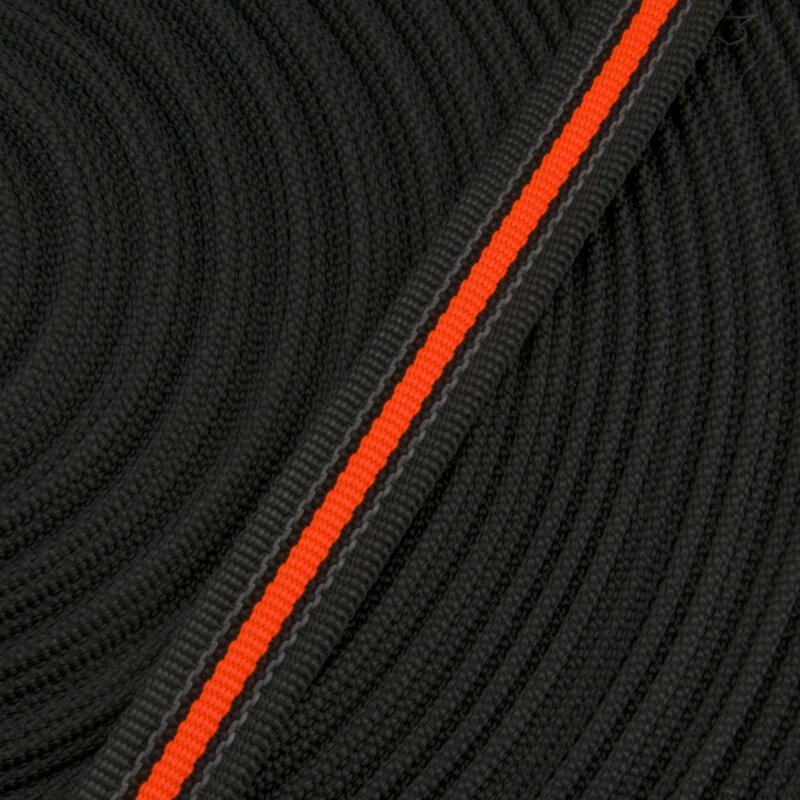Antirutsch Gurtband 20mm schwarz-fluor orange