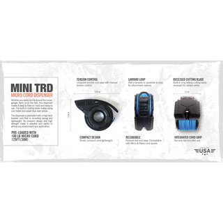 TRD Mini - Micro Cord Dispenser Black