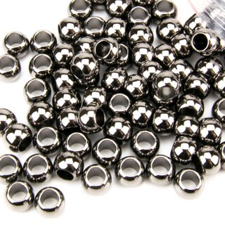 CCB Beads gun black, Loch 4.7 mm, 100 Stk.