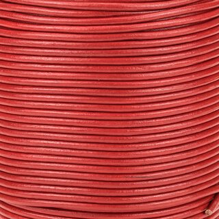 Premium Rundleder red 2 mm