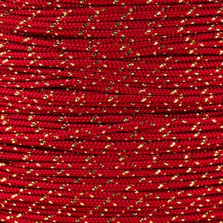 Paracord Typ 1 imperial red gold metal x