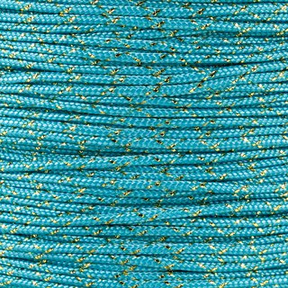 Paracord Typ 1 turquoise gold metal x