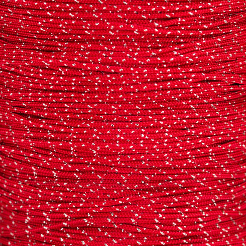 Paracord Typ 1 imperial red silver metal x