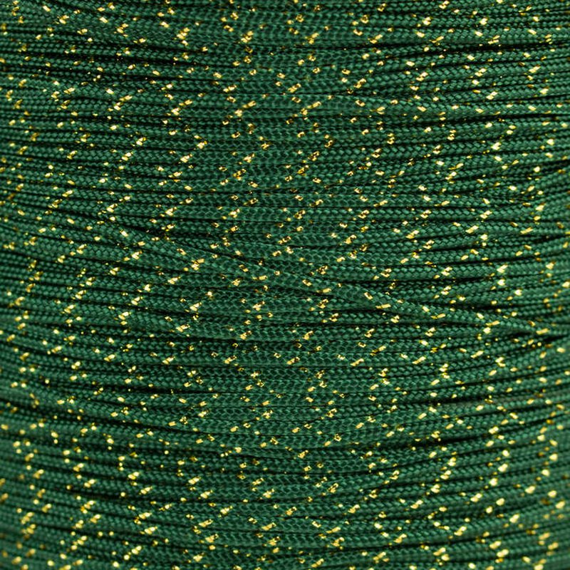 Paracord Typ 1 emerald green gold metal x