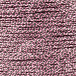 Paracord Typ 1 rose pink charcoal grey diamonds