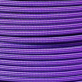 Paracord Typ 3 acid purple silver grey stripe