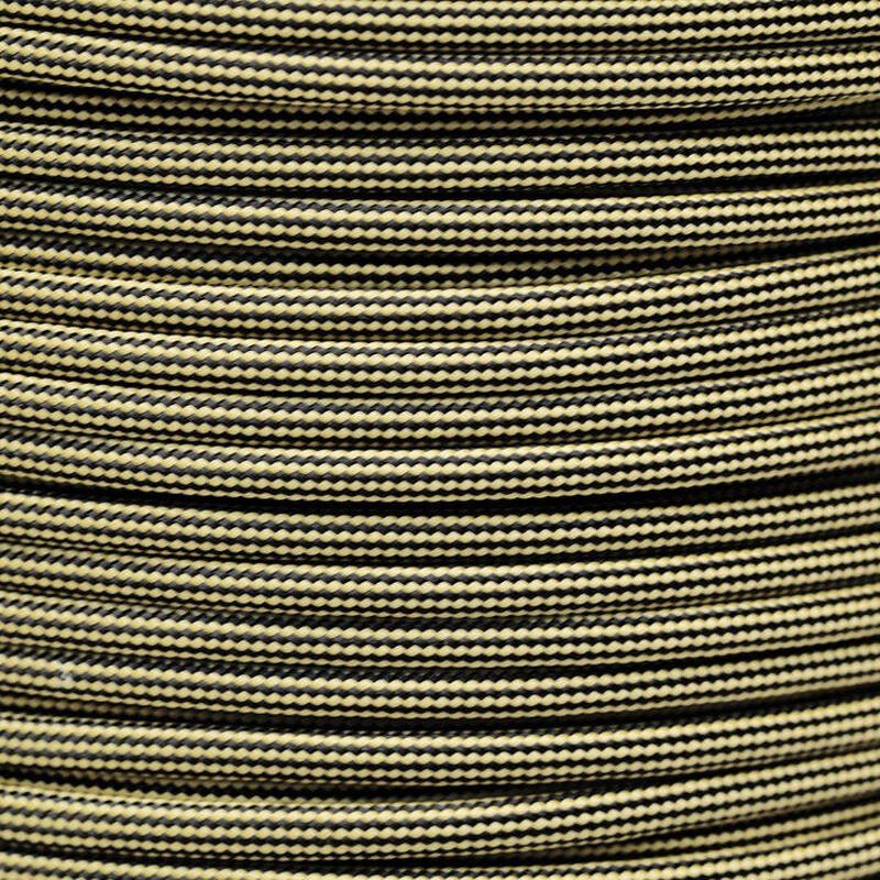 Paracord Typ 3 tan380 / black stripe