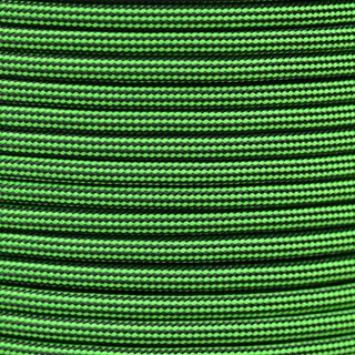 Paracord Typ 3 neon green black stripe