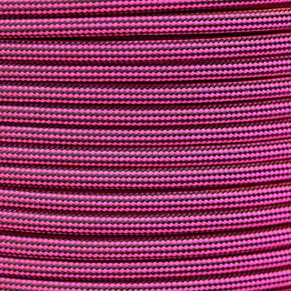 Paracord Typ 3 neon pink / black stripe
