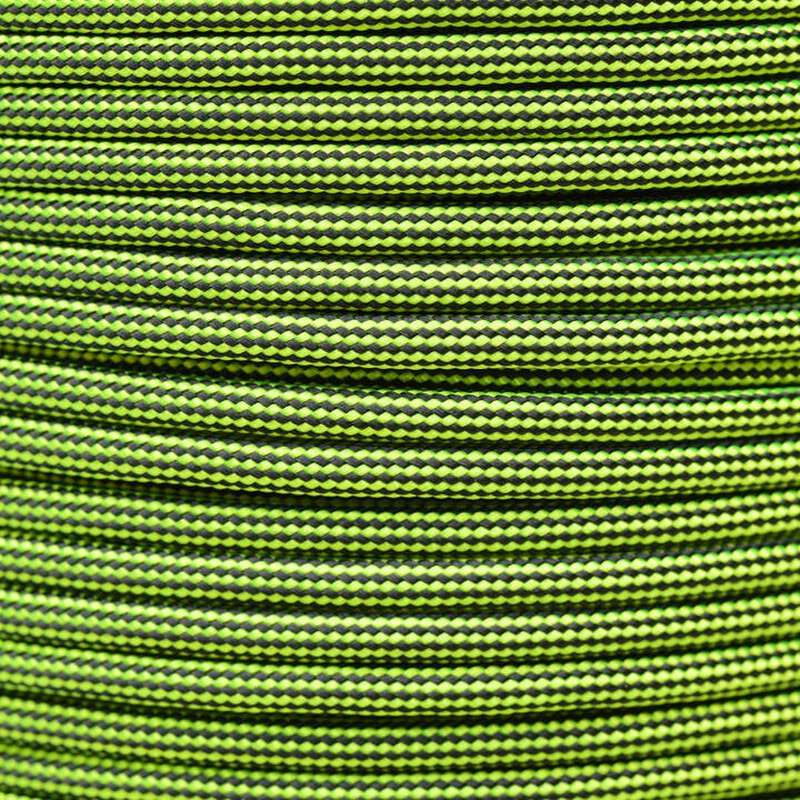 Paracord Typ 3 neon yellow / black stripe