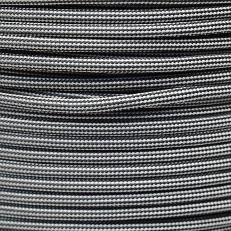 Paracord Typ 3 silver grey black stripe