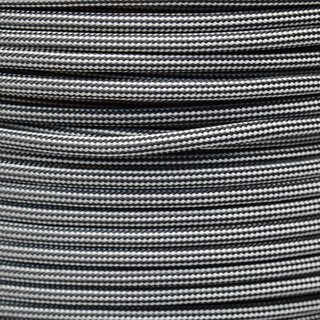 Paracord Typ 3 silver grey / black stripe