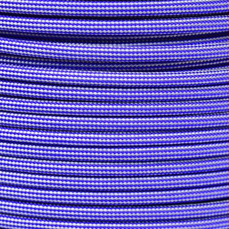 Paracord Typ 3 electric blue silver grey stripe