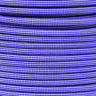 Paracord Typ 3 electric blue / silver grey stripe