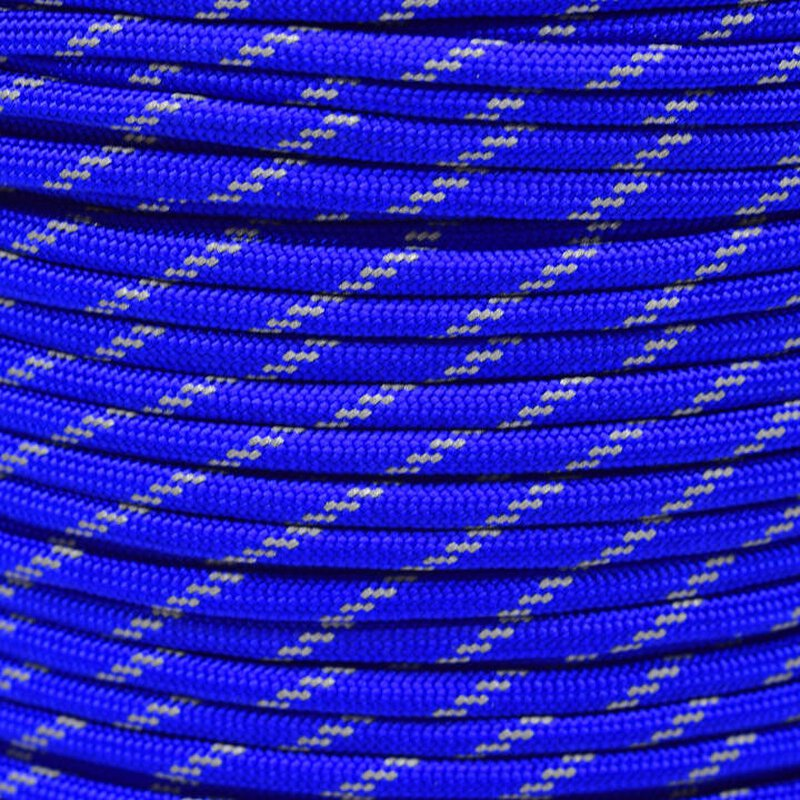 Paracord Typ 3 reflektierend electric blue