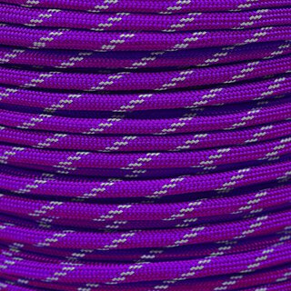 Paracord Typ 3 reflektierend acid purple