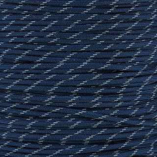 Paracord Typ 3 reflektierend midnight blue