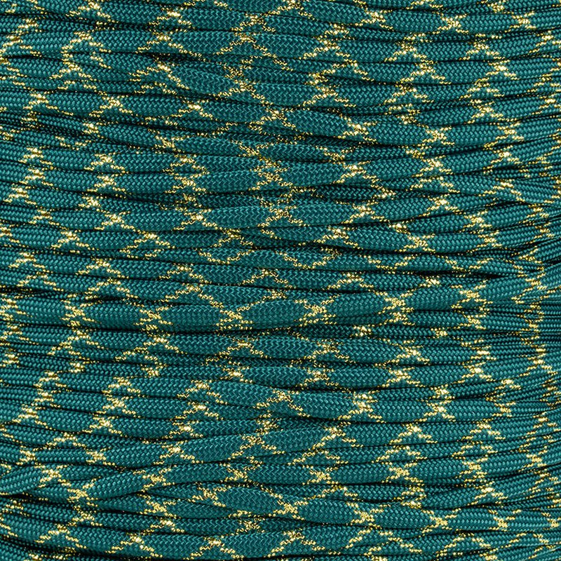 Paracord Typ 3 teal / gold metal x