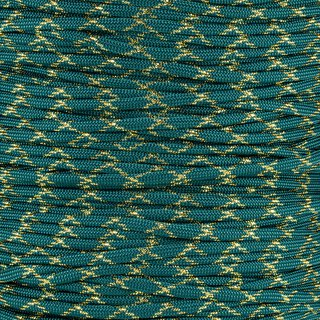 Paracord Typ 3 teal gold metal x