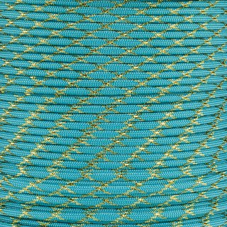 Paracord Typ 3 turquoise / gold metal x