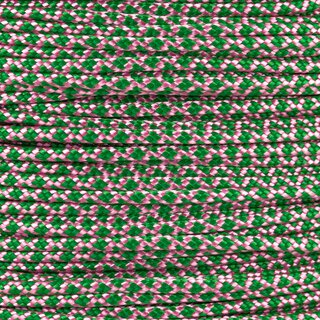 Paracord Typ 2 rose pink kelly green diamonds